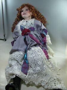 429| aufwendig gearbeitete Puppe ca 74 cm mit aufwendigem Kleid limitiert
