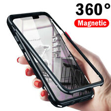 For One Plus 8 7 7T Pro 6T 6 Magnetic Adsorption Metal Tempered Glass Case Cover