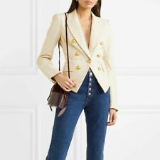 VERONICA BEARD Sz 2 Cooke White Leather Blazer Jacket NWOT