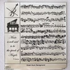 Sheet Music Rubber Stamp Piano Cello Phrase Speech of Angels Carlyle Unmounted
