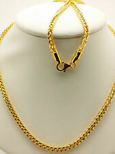 21k Solid Yellow Gold  Franco Necklace/ Chain 6.95 Grams