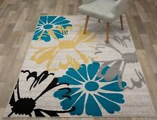 Throw Rug Floral Contemporary Living Dining Room Big Large Area Floor Mat 5x7