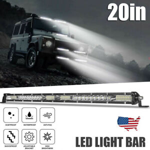 "20"" LED Work Light Bar Flood Spot Combo Slim Fog Lamp Offroad Driving SUV ATV US"