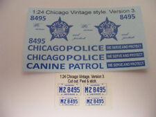 Chicago Police Vintage 1/24 Waterslide Decal Set Fits 1/25 1/24 ..Version 3 of 4