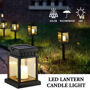 Waterproof Solar Lantern Hanging LED Candle Lamp Garden Landscape Lights Decor
