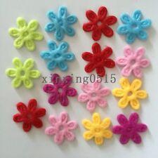 DIY 100PCS Padded Felt Spring Flower Appliques Craft Wedding decoration making