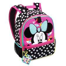 NWT Disney Store Minnie Mouse Backpack School Girls Black polka dots
