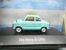 NSU Autounion Audi Prinz II MK2 30 Typ40 1959 türkis g Argentina Atlas IXO 1:43