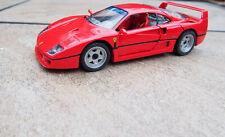 Franklin Mint 1989 Ferrari F40 Rosso Corsa Red 1:24 Diecast NIB COA B11SG44
