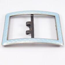 Sterling 925S Buckle Norway Art Deco Enamel Tostrup