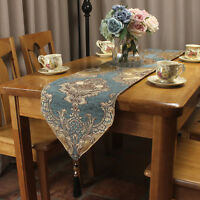 New Luxury Chenille Jacquard Formal Table Runners for Vintage Home Decoration