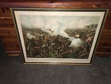 Original Kurz & Allison Chromolithograph Print  1886 Battle Of Five Forks VA.