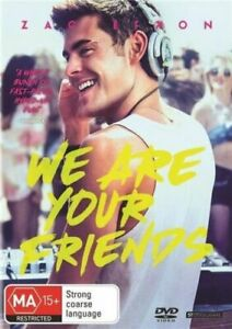 WE ARE YOUR FRIENDS - LIKE NEW REGION 4 DVD (ZAC EFRON)