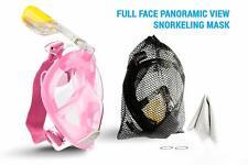 Full face Snorkel Mask 180 view - Pink - Small / Medium