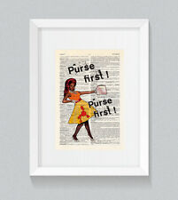 RuPaul Bob The Drag Queen Purse First Vintage Dictionary Book Print Art