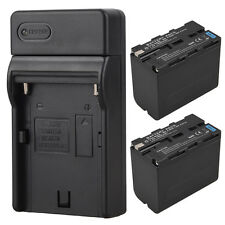 2x 7800mah NP-F960 Backup Batterie + Chargeur Pour Sony NP-F960 NP-F970 Caméra