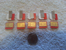 LOT of 5 MetroPCS CDMA MICRO SIM CARDS TESTING&BYPASS ONLY! NOT FOR ACTIVATION!