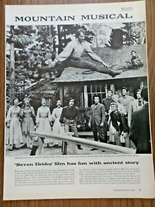 1954 Movie Ad Mountain Musical Seven Brides for Seven Brothers