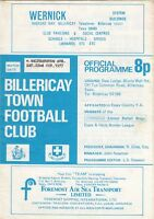 Billericay Town v Walthamstow Avenue 1977/8 (22 Oct) FA Cup Qualifier R3