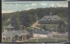 Postcard BUTLER PA  Amusement Park Trolley Depot & Pavilion Aerial view 1907