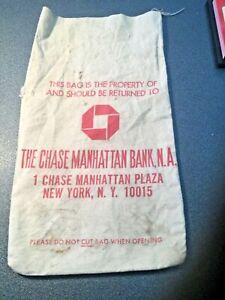 Chase Manhattan Bank NA Vintage MONEY BAG Pouch Sac Souvenir Memento Collectable