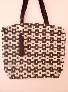 Woman HandMade Bag, Black - White Bag, shoulder bag for woman, handmade special