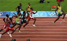 Usain Bolt The World's Fastest Man Jamaica Champion Runner Poster 21x13'' 014
