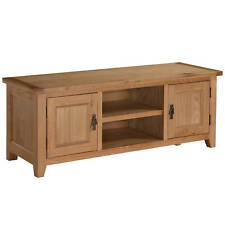 Solid Pine Wax Finish TV Table Stand Cupboard Cabinet Media Unit