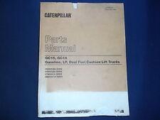 CAT CATERPILLAR GC18 GC15 FORKLIFT PARTS BOOK MANUAL