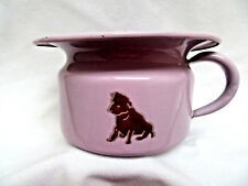 Vintage Germany Child's Pink Enamel Ware Tin Chamber Pot Potty ~ Cat Dog Lamb
