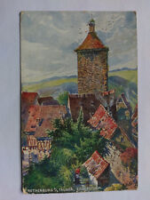 Rothenburg O.T. Germany  Vintage colour Postcard 1907 Der Siebersturm