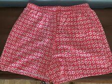 Vtg Victoria Harbor Red White Geometric Print Cotton Men's Boxer Underwear Xl
