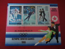 KOREA - 1980 WINTER OLYMPIC EVENTS - MINISHEET MINIATURE SHEET - UNMOUNTED USED
