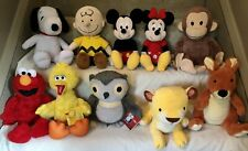 LOT OF 10 KOHLS CARES FOR KIDS PLUSH SNOOPY,CHARLIE BROWN,MICKEY,MINNIE-3 NWT