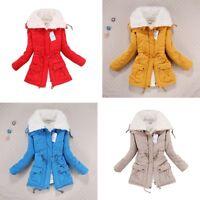 Women Outwear Thicken Coat Hood Parka Overcoat Warm Long Jacket