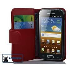 Für Samsung Galaxy ACE 2 I8160 Tasche Hülle Flip Case Schutzhülle Etui rot