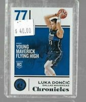 2018 Panini Chronicles Basketball Luka Doncic rookie card base card - Mavericks