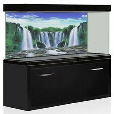 Aquarium Background Poster HD Waterfall Forest Landscape Fish Tank Decorations