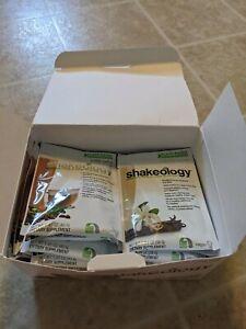 Vegan Shakeology Packets - 12 Cafe Latte - 10 Vanilla - 2 Chocolate - 24 total