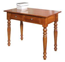Petit bureau 2 tiroirs - Finition merisier - Bureau classique en bois