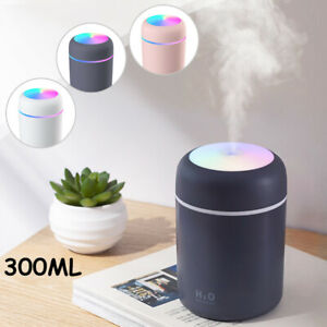 Mini Mist Humidifier USB Portable 300ml Cool Humidifier with Colorful LED Light