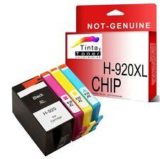 4 Cartuchos Compatibles tinta Non-Oem HP 920XL Officejet 7000A 7500A 6500 6500A