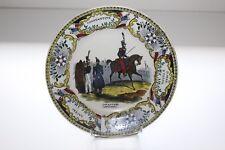 Ancienne assiette faïence Creil Montereau Infanterie Napoléonienne