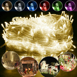 10M 100LED Fairy String Lights Christmas Tree Xmas Party Outdoor Indoor Decor