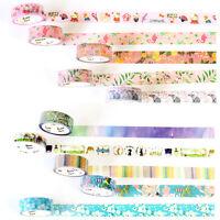 7M DIY Floral Washi Sticker Decor Roll Paper Masking Adhesive Tape Crafts Gift