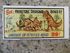 """Former sign """"See Dinosaur Bones"""" on Route 66  paper cut out, mint!"""