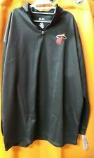 Mens NBA Miami Heat Black Birdseye 1/4 Zip Big & Tall Basketball Pullover 3XLT