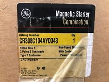 GE CR308C104AYD343 Magnetic Combo Starter ** New In Box, Free Shipping **