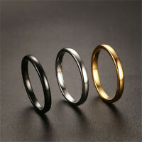 Black/Gold/Silver Color Tungsten Carbide Wedding Band Mens Womens Ring Size 6-10