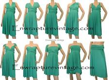 ULTRAMARINE GREEN BRIDESMAIDS/WEDDING MAXI CONVERTIBLE DRESS SZ:US 2-14,AU 6-18